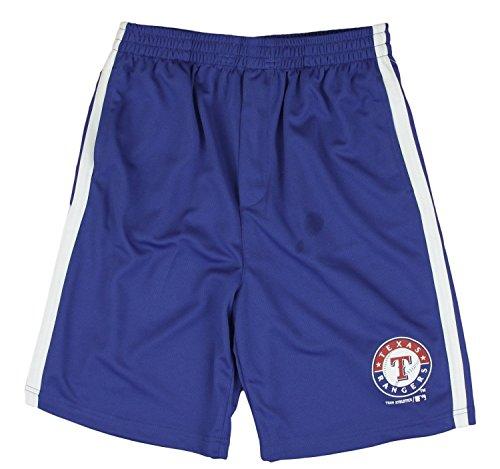 (Outerstuff Texas Rangers MLB Little Boys and Big Boys Team Shorts - Navy Blue (Medium (8)))