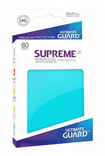 Ultimate Guard Supreme UX Card Sleeves (80 Piece), Aquamarine, Standard Size