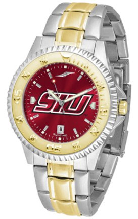 SunTime Southern Illinois Salukis Competitor AnoChrome Two Tone Watch