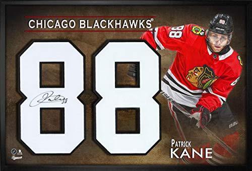 Patrick Kane Autographed Jersey - Frameworth Number Framed Print Red - Autographed NHL Jerseys