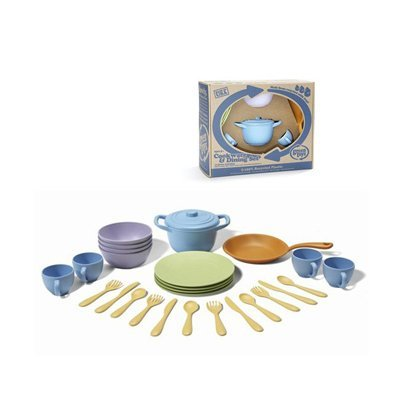Green Toys Cookware and Dinnerware Set - 27 Piece Set ()