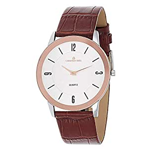 Christian Bell Casual Watch For Men Analog Leather - 1873BRW