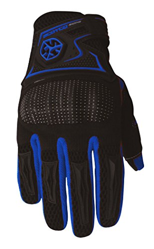 CRAZY AL'S SCOYCO MC23 Gloves Professional Motorcycle Motocross Racing Full Finger Gloves Sportswear Cycling Outdoor Sports Gloves Red Black Blue M/L/XL/XXL (M, Blue)