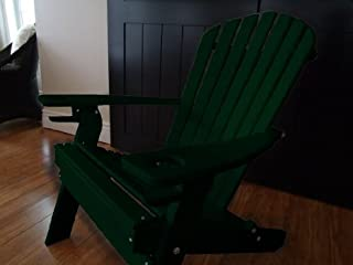 product image for Poly Recycled Plastic Adirondack Chair with One Cupholder- Green
