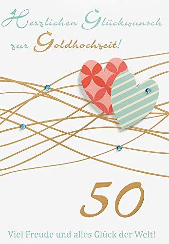 Tarjeta para bodas de oro, estilo de vida, corazones, pegatinas de ...