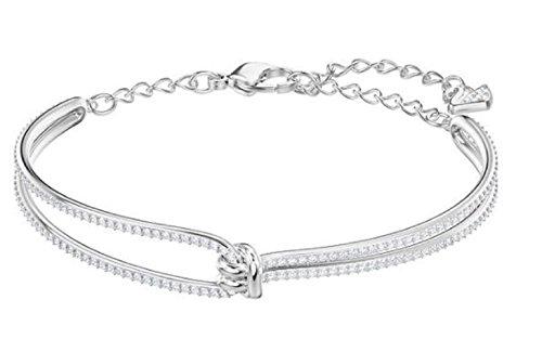 Swarovski Crystal Lifelong Rhodium-Plated Bracelet