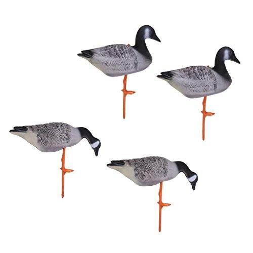 Goose Full Body (Homyl Set of 4 Portable Full Body Goose Hunting Decoys Lawn Yard Decor Hunter Gears)
