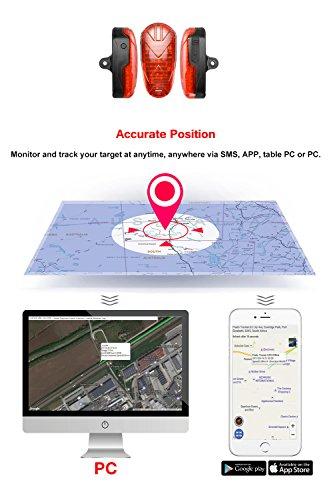 TKSTAR Bike GPS Tracker Alarm with LED Tail Light Waterproof Worldwide Realtime GPS Locator Mini Smart LED light Hidden Motor Bicycle GPS Tracking Device 25 Days Long Battery Life FREE APP by TKSTAR (Image #7)