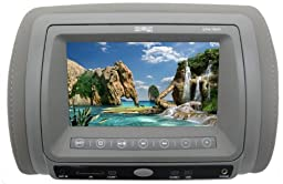 Absolute DPH-780IR 7.5-Inch Complete Headrest Monitor with Built-In DVD Player - Gray