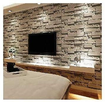 Eurotex 3d Stone Pvc Wallpaper 1 Roll 57 Sq Ft 53 X 1000 Cm Grey