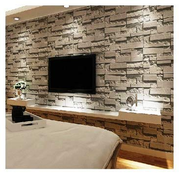 Eurotex Stone 3d Design Wallpaper For Covering Living Room Bedroom Walls Pvc 57sqft Grey Color Buy Online In Mauritius Eurotex Products In Mauritius See Prices Reviews And Free Delivery Over 2 500 Desertcart