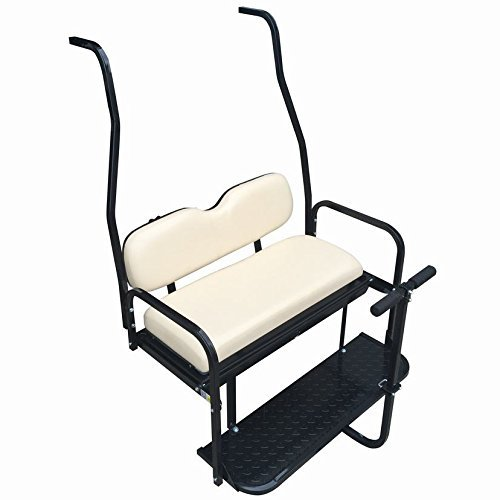 Club Car DS Golf Cart Rear Flip Back Seat Kit for 2000.5 - Up Factory Buff - Light Tan (Club Car Back Seat Flip Up)