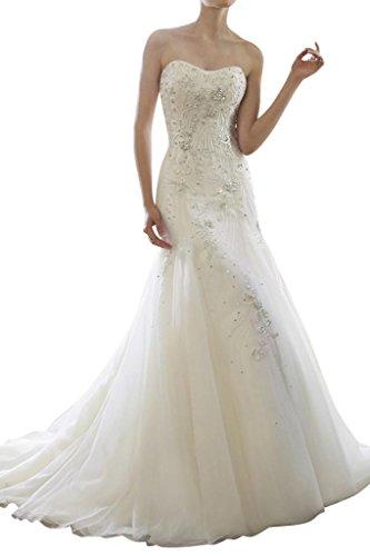 cuore a da lungo di vestiti abito sposa principessa da sposa sposa forma Toscana con alta di pietre Organza qualità P0qAzI