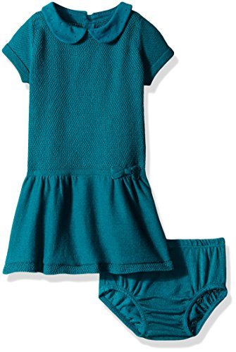 Nautica Baby Mixed Stitch Sweater Dress with Woven for sale  Delivered anywhere in USA