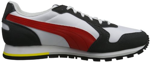 Puma ST-Runner - Caña baja de material sintético unisex gris - Grau (glacier gray-high risk red 01)
