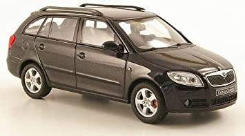 Skoda Fabia Ii Combi Met Schwarz Modellauto Fertigmodell Abrex 1 43 Spielzeug