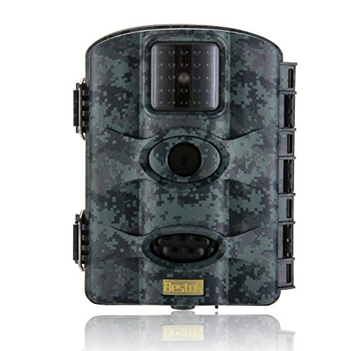 Scouting Game Camera - Bestok Trail Game Camera 20MP 1080P Waterproof Hunting Scouting Cam Motion Activated Night Vision 65ft/20m No Glow IR LEDs for Wildlife Monitoring