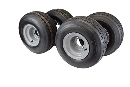- 18x8.50-8 with 8x7 Gray Assembly for Golf Cart and Lawn Mower (Set of 4)