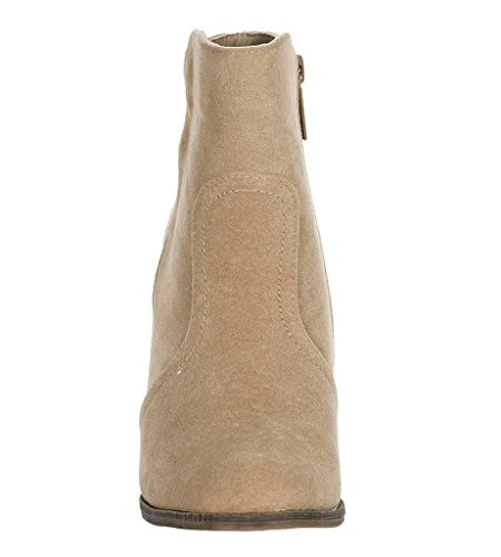 Heather Boots 34W Breckelles Bootie Taupe 0wZAqUnH