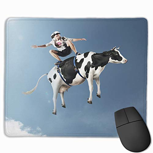 Smooth Mouse Pad Funny Flying Cattle Cow Mobile Gaming Mousepad Work Mouse Pad Office Pad ()