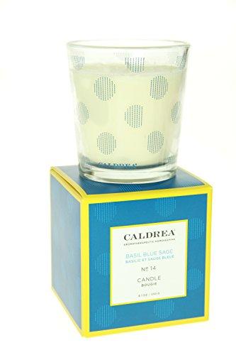 Caldrea scented 8.1 oz Candle - Basil Blue Sage