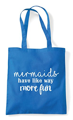 Mermaids Fun Tote Have Way Statement Sapphire Bag More Shopper rqtr7aB