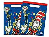 Dr Seuss Cat in the Hat Goody Bags Party Favor Loot Treat Sacks 8Ct, Health Care Stuffs