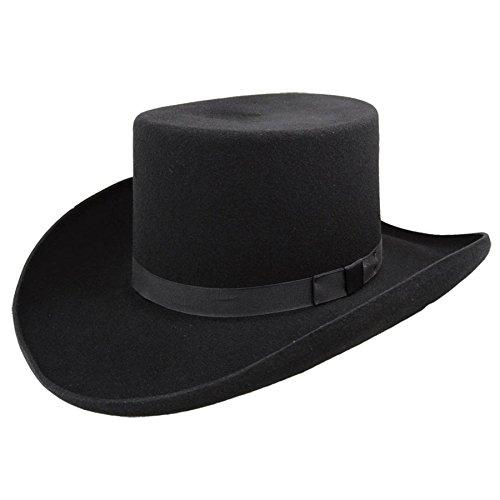 Bailey Men's Western Dillinger Flat Top Hat Black 6 7/8 (Bailey Western Top)