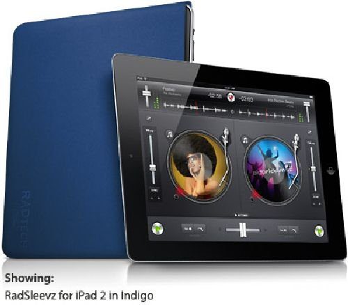 RadTech Case, RadSleevz Form-Fitting Sleeve, iPad 2/3/4, - Indigo (16005) by RadTech