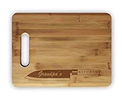 Cutting food has never been so personalized! Order this cutting board and get this message laser engraved into the wood!
