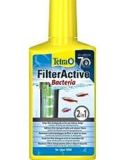 Tetra FilterActive Bacteria – mieszanka żywych bakterii rozruchowych i bakterii czyszczących redukujących osad, utrzymuje filtr aktywny biologicznie i redukuje mulczowanie, różne rozmiary