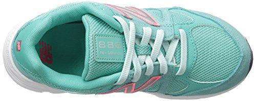 New Balance KJ888V1 Grade Running Shoe (Big Kid) Grey/Green