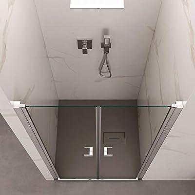 Olimpo - Mampara de Ducha de 195 cm de Altura, Puerta Saloon ...