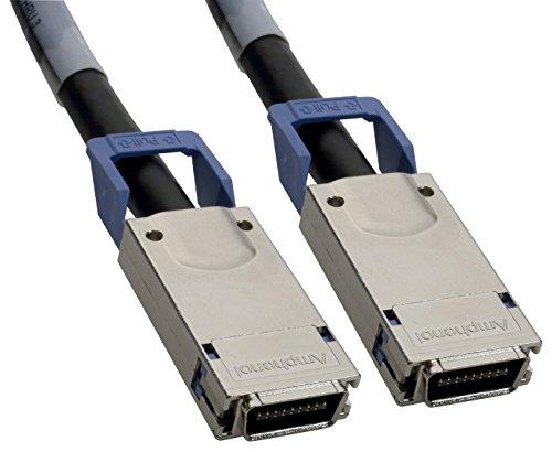 Amphenol NW-CX428MMLFS-005 10 GbE-CX4 Cable, 28 AWG Passive Copper, Fujitsu SFF-8470 CX4 Connectors, 5 m, 16', Black