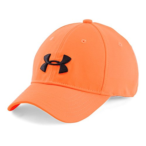 Under Armour Camo Cap 2.0, Blaze Orange (825)/Black, One - Cap Adjustable Youth Camo