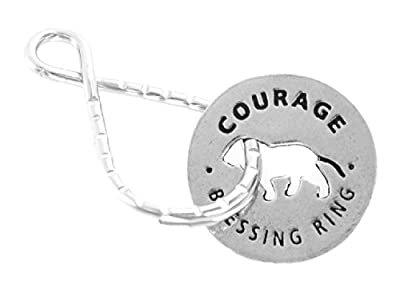 Courage The Heart Of A Lion Reversible Blessing Ring Keychain
