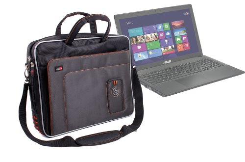 """DURAGADGET """"Travel Deluxe Protective Laptop Briefcase with Shoulder Strap - Suitable for Asus X551CA / X551C 4GB 500GB Laptop"""