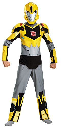 [UHC Boy's Transformers Bumblebee Theme Party Child Halloween Costume, Child (4-6)] (Scary Bee Costume)