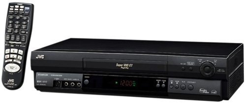 JVC HRS5901U 4-Head S-VHS VCR, Black