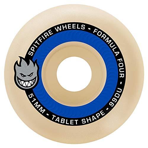 Spitfire Formula Four 99D Tablet Skateboard Wheels - Set of 4 (53mm) by Spitfire