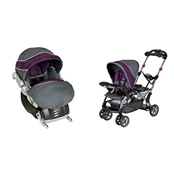 Baby Trend Flex Loc Infant Car SeatElixer With Sit N Stand Ultra Stroller