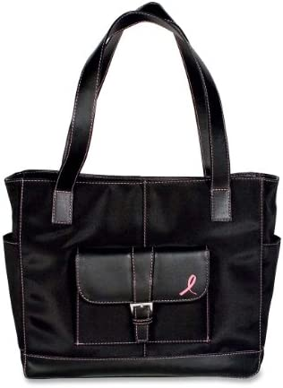 Day-Timer Pink Ribbon Black Microfibre Tote Bag D48371