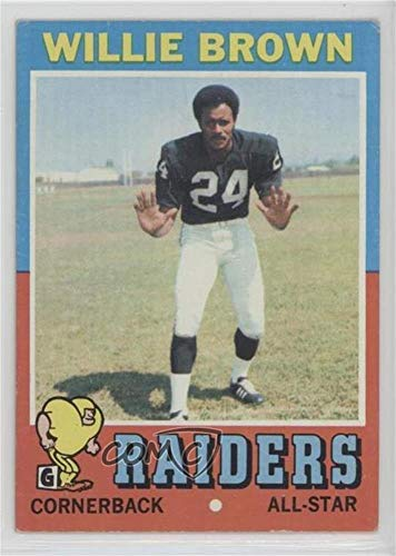 1971 Topps Football Card - Willie Brown Ungraded COMC Good to VG-EX (Football Card) 1971 Topps - [Base] #207