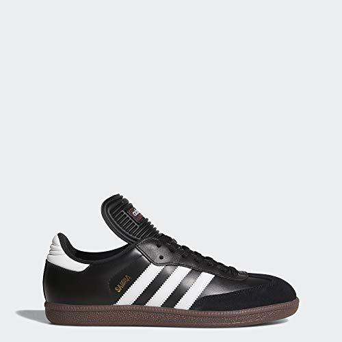 adidas Men's Samba Classic Soccer Shoe,Black/Running White,10.5 M US