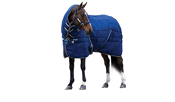 Horseware Rambo Stable Plus Rug with Vari-Layer V Front Closure Hood Inclused