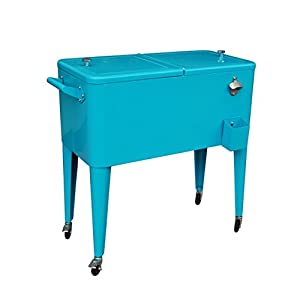 Permasteel PS 203 TEAL2 Patio Cooler With Insulated Basin, 80 Quart, Teal