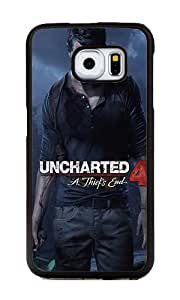 Samsung Galaxy S6 Edge Case, Personalized Uncharted 4 A Thiefs End Slim Grip TPU Bumper with Hard Plastic Back Case for Samsung Galaxy S6 Edge