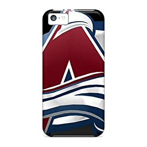 Shock Absorption Hard Phone Covers For Apple Iphone 5c With Allow Personal Design Colorful Colorado Avalanche Series ErleneRobinson