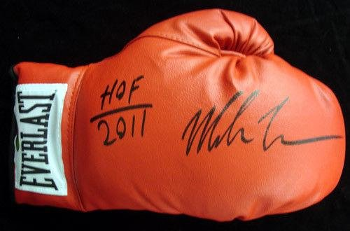Mike Tyson Autographed Red Everlast Boxing Glove Hof 2011 Rh 28594 Tristar Productions Certified Autographed Boxing Gloves
