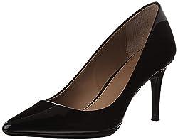 Calvin Klein Womens Gayle Pump Black Patent 7 B M Us